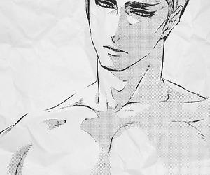 manga, monochrome, and sexy image
