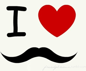 moustache, mustache, and love image