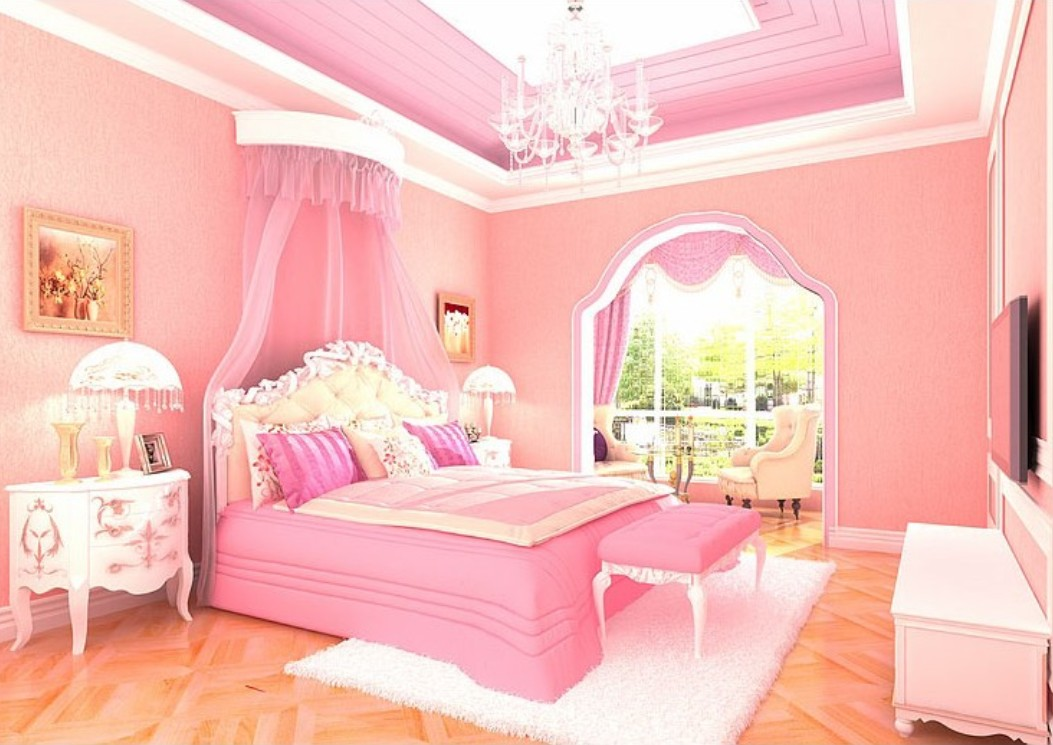 Pink Bedroom Wallpaper For Wedding Jpg 1053 745 Discovered By Yalda Ventura