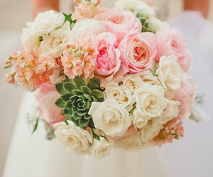 bouquet, rose, and wedding image