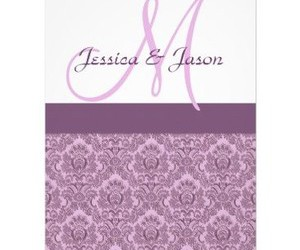 invitation, monogram, and orchid image