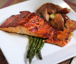 delicious, salmon, and fish image