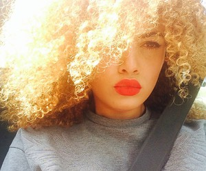 black girl, curly hair, and gif image