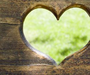 heart, love, and green image
