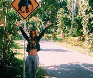 girl, elephant, and animals image