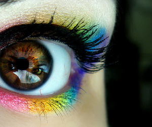 eyes, cute, and rainbow image