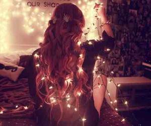 girl, light, and hair image