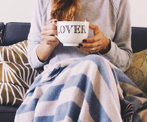 coffee, blanket, and lover image