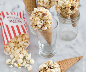 popcorn, food, and sweets image