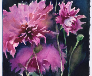 flowers, painted, and painting image