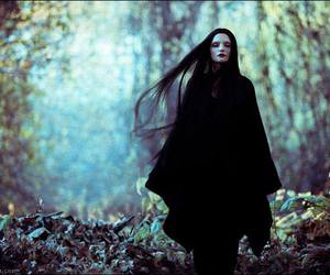 beautiful, gothic, and black hairs image