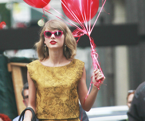 Taylor Swift, balloons, and red image