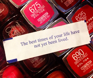 fortune, fortune cookie, and lipstick image