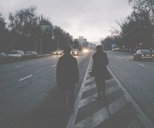 grunge, couple, and city image