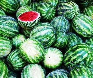 food, fruit, and watermelons image