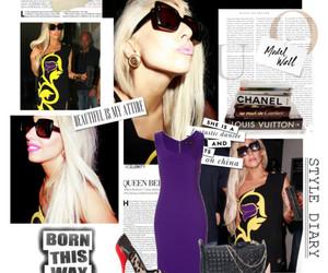 dress, fashion, and gaga image