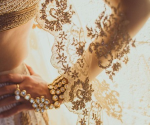 wedding, dress, and indian image