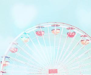 sky, blue, and ferris wheel image