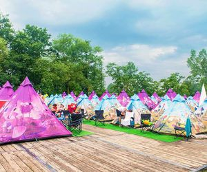 camping, dreamville, and festival image
