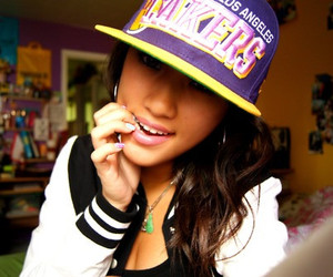 girl, swag, and lakers image