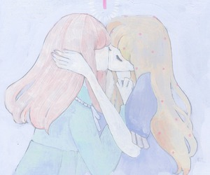 girl, kiss, and pastel image