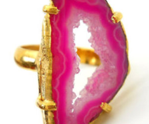 pink, ring, and rock image