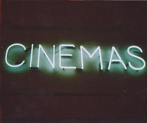 cinema, text, and neon image