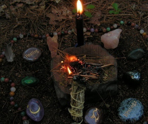 candle, magic, and forest image