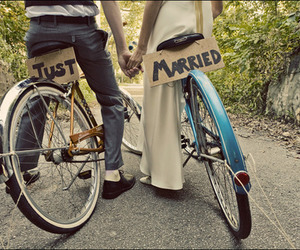 bikes, married, and cute image