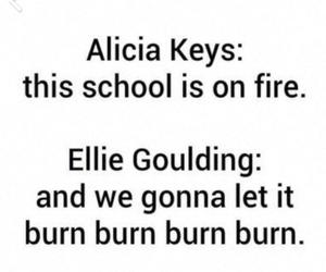 school, alicia keys, and Ellie Goulding image