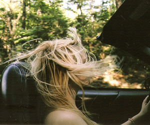car, freedom, and hair image