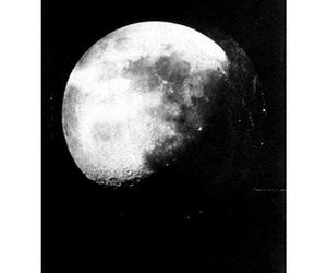 moon, quote, and black and white image