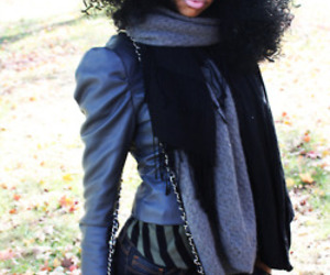 black girl, chanel, and curly hair image