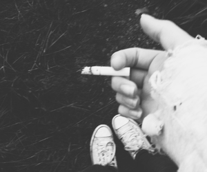 cigarette, grunge, and morning image