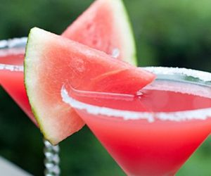 drink, watermelon, and pink image