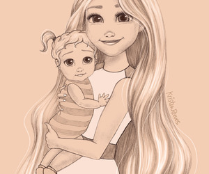 rapunzel, disney, and daughter image