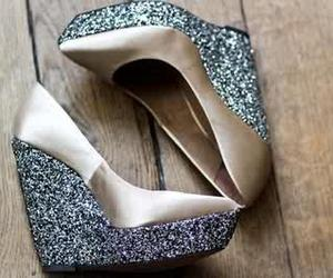 shoes, wedges, and girly shoes image