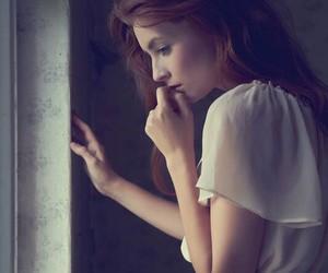 girl, sad, and beauty image