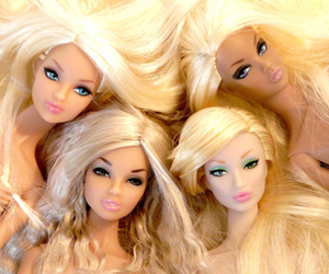 barbies, dolls, and eyes image