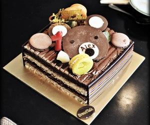 bear, birthday cake, and dessert image