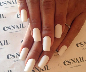 matte, nails, and white image