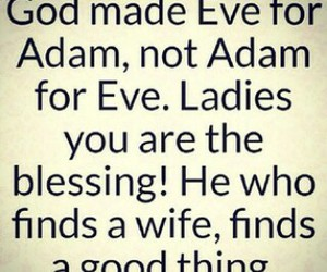 adam and eve, Christianity, and blessing image