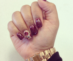 fall, nails, and watch image