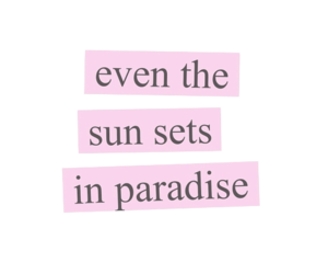 quotes, paradise, and pink image