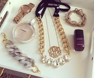 chanel, gold, and bracelet image