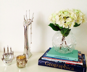books, cozy, and flower image