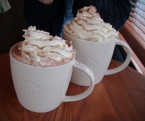 coffee, starbucks, and cream image