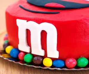 cake, m&m, and m&m's image