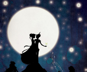 peter pan, moon, and wendy image