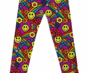 hippie, leggings, and smiley image